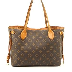 Auth Louis Vuitton Neverfull Pm Tote Bag #1969L30